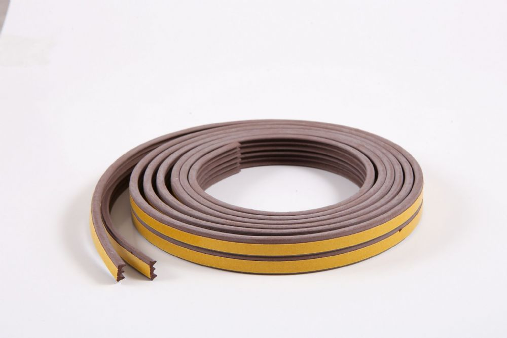 10m E-profile Brown Colour Draught Excluder